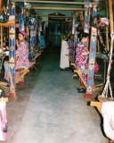 Traditional silk weaving hall