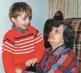 Ryan & Grandma 1986