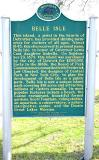 BELLE ISLE MICHIGAN HISTORY SIGN