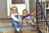 KELLY AND RYAN ON MY AUNT REBA'S PORCH