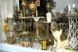 PETRIFIED DOG IN ANTIQUES WINDOW