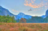 Half Dome  Clouds HDR