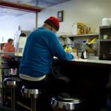 Blue Sweater  Red Cap