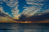 Venice Sunset White Clouds