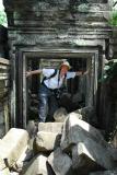 Steve in Beng Mealea Doorway