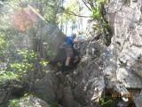 Climbing the Chimney between the Osceolas