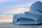 Iceberg floating across Disco Bay