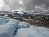 zicht vanaf de gletsjer