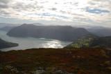 Fjord in de zon