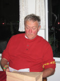 Pops reads a note