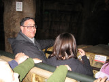 Chuck drove us safely through the Indiana Jones exhibit...masterful driving performance