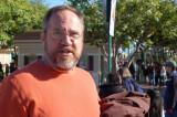 Pat arrives at California Adventure Park