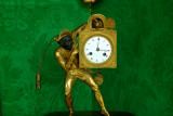 Old clock  in green