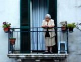 The lady on the balcony