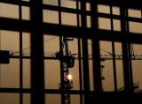 Sunset behind the crane