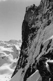 Doigt de Pombie en hiver vu de la VN du Grand Pic d'Ossau