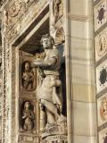 Certosa Pavia - detail of the facade