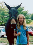 Sierra Taylor with John Henry at the CAA Annual Meeting at the KY Horse Park - July 2006.jpg