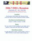 2006 VDHA Reunion Information