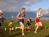 Drew leads Milne and Wells up hill