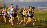 Lead pack with Paul Morrison in front