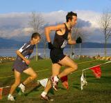Norm Tinkham follows up hill