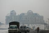 Darulaman Palace in the mist