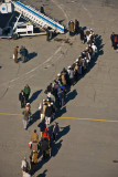 Passengers in line
