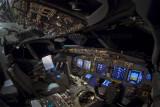 737 flightdeck at night