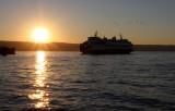 Mukilteo ferry sunset
