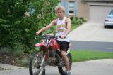 adam and his dirtbike