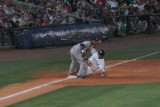 Reid Fronk slides safely into third