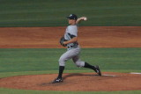Kyle Waldrop comes into the game to pitch for Fort Myers
