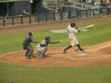 Ryan Royster hits a ground ball to second