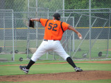 Orlando Alfonso on the mound for the Orioles