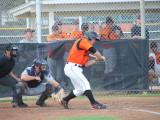 Preston Hale drives home a run with a sac fly