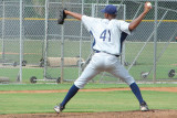Eduar Quinonez on the mound for the Rays