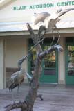 Wood Stork statue