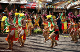 Ibalong Festival performers in Cagsawa Ruins
