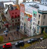 mural in old Quebec City