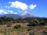 below the Volcan de Colima