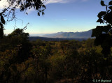 view of foothills from hike upslope