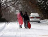 guys heading home from sledrun