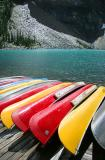 Yellow and Red Canoes