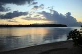 Sunset in Nusa Harbour overlooking Nusa Island