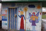 Murals at James Bay Community Centre - Victoria, B.C.