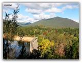 view from dam wall - maroondah reservoir - victoria