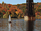 Sailing Under the Poughkeepsie RR Bridge