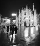 A rainy night in Milan