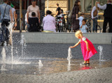 Playing in the Fountain...
